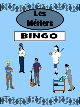 Les Métiers Bingo – The Professions Vocabulary in French