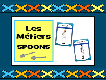 Les Métiers - Spoons Card Game - Jobs Vocabulary in French