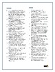 Les Misérables: Synonym/Antonym Crossword--Use with Bookma