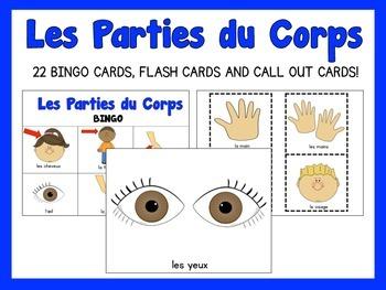 Les Parties Du Corp {Bingo Game & Flash Cards}