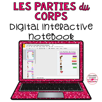 Les Parties du Corps French Body Parts Digital Interactive