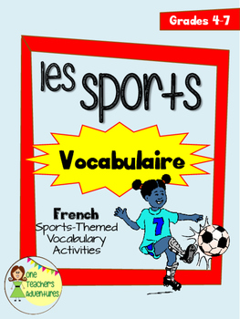 Les Sports Vocabulaire - French Sports-Themed Vocabulary A