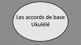 Les accords: Ukulélé basic chords