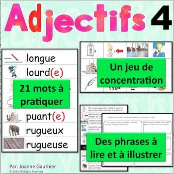 Les adjectifs 4: Je pratique mon vocabulaire {French Vocab