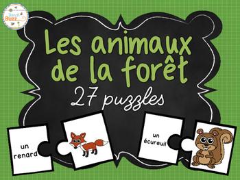 Les animaux de la forêt - 27 puzzles (casse-tête) - French