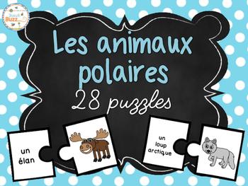 Les animaux polaires - 28 puzzles (casse-tête) - French Ar