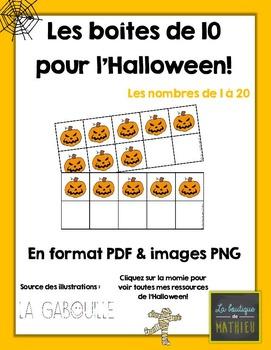 Les boîtes de 10 de l'Halloween (nombres 1 à 20) (format P
