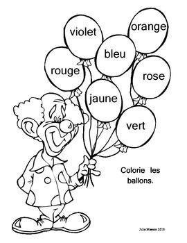 Les couleurs/Color Words