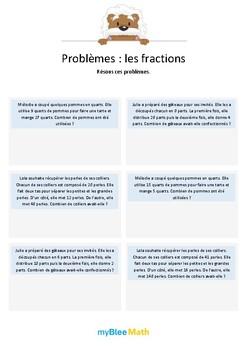 Les fractions 6 - Résolution de problèmes grâce aux fractions