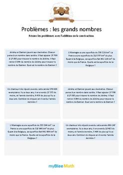 Les grands nombres 6 - Additions et soustractions de grand