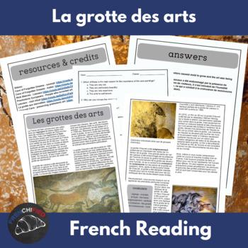 Les grottes des arts - a reading for intermediate/advanced