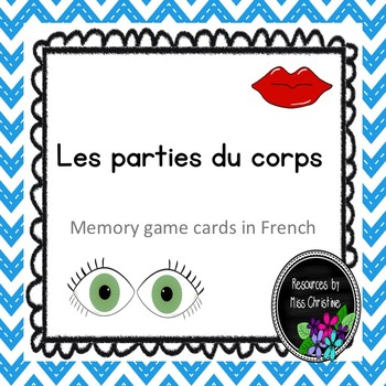 Les parties du corps - French Memory Game Cards