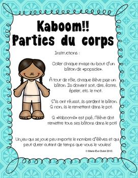 Les parties du corps - Kaboom!!