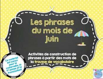Les phrases du mois de juin/French sentences Month of June