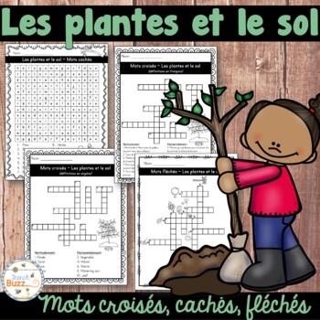 Les plantes et le sol - mots croisés - French Plants and Soil