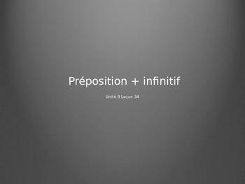 Les prépositions avant les infinitifs