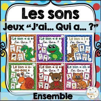"""Les sons - Jeux """"j'ai... qui a...?"""" - Growing Bundle - Ensemble"""