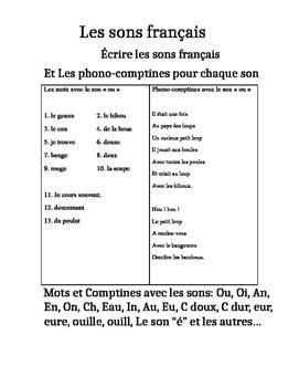 Les sons français et les phono-comptines (French sounds-wo