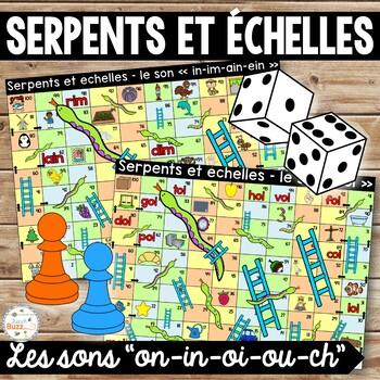 Les sons oi-ch-on-in-ou - Serpents et échelles - Ensemble