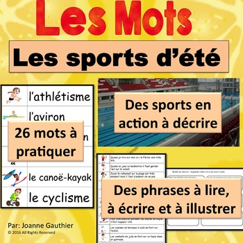 Les sports d'été et les jeux olympiques: Je pratique mon v