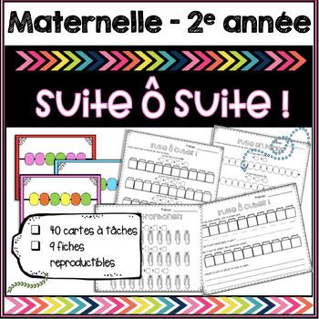 Les suites / Patterning - mathématiques