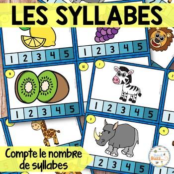 Les syllabes - compte le nombre de syllabes - 48 cartes
