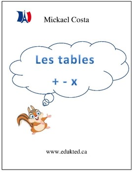 Les tables d'addition, de soustraction et de multiplication