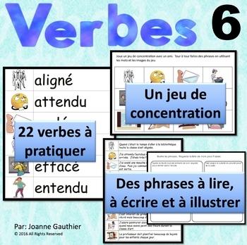 Les verbes 6: Je pratique mon vocabulaire {French Vocabula