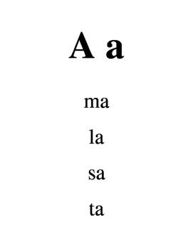 Les voyelles booklet- reading vowels and two letter sounds