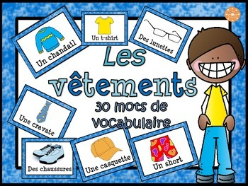 Les vêtements/French clothing -  vocabulaire