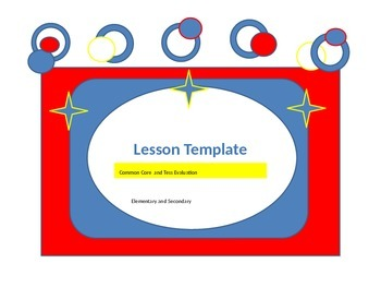 Leson Plan Template for Tess Evaluation