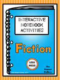 """""""Less Mess"""" Fiction Interactive Notebook Activities (for R"""