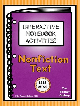 """""""Less Mess"""" Nonfiction/Informational Text Interactive Note"""