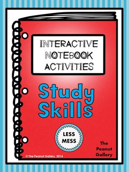 """Less Mess"" Study Skills Interactive Notebook Activities"