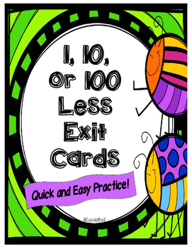 Less Than Exit Cards