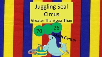 Less Than/Greater Than 2 Digits-Math Center Game