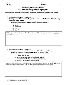 FSA and PARCC Test Prep - Lesson 14 - Dog Helpers - Journe