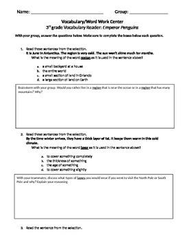 FSA and PARCC Test Prep - Lesson 20 - Emperor Penguins - V