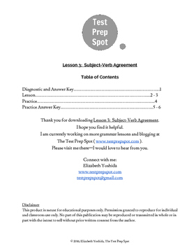 Lesson 3: Subject-Verb Agreement