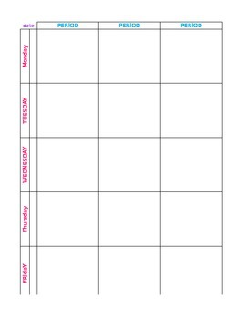 Lesson Book Template