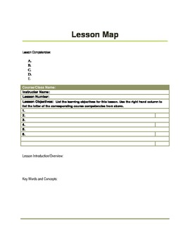 Lesson Map Template