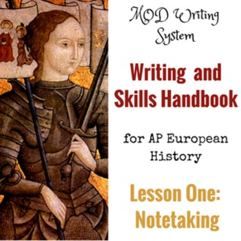Lesson One--Notetaking from AP European History Writing an