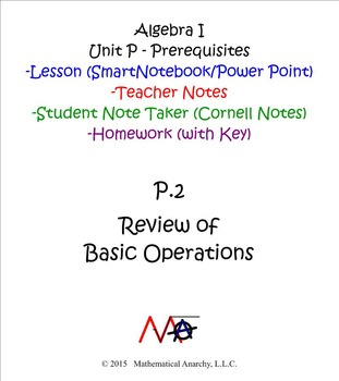 Lesson P.2 - Review of Basic Operations