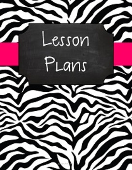 {Lesson Plan Binder Cover Freebie} B&W Zebra Chalkboard wi