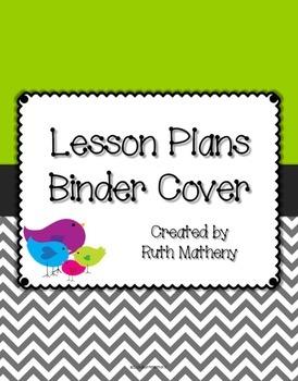 {Lesson Plan Binder Cover Freebie} Bird Theme with Green B