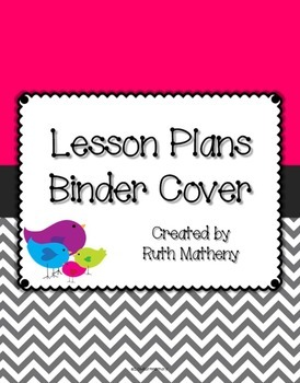 {Lesson Plan Binder Cover Freebie} Bird Theme with Pink Ba