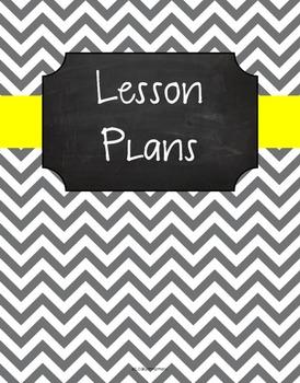 {Lesson Plan Binder Cover Freebie} Gray Chevron Chalkboard