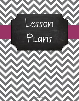 {Lesson Plan Binder Cover Freebie} Gray Chevron Chalkboard