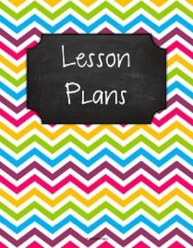 {Lesson Plan Binder Cover Freebie} Multi Brights Chevron C