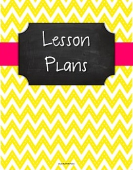 {Lesson Plan Binder Cover Freebie} Stitched Yellow Chevron